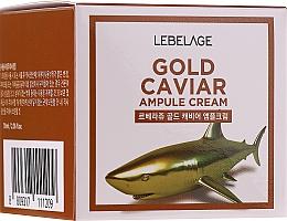 Парфюмерия и Козметика Подмладяващ крем за лице със злато и екстракт от хайвер - Lebelage Ampoule Cream Gold Caviar