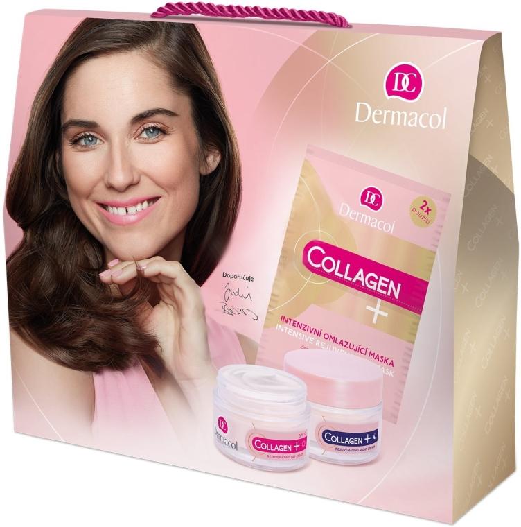 Комплект за лице - Dermacol Collagen+ (дневен крем/50ml + нощен крем/50ml + маска/2x8g) — снимка N1