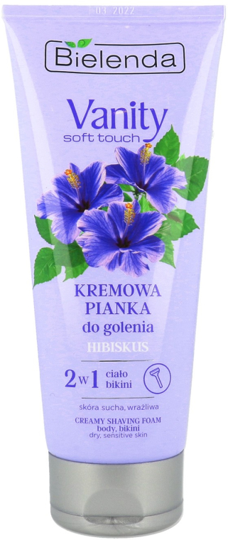 "Крем-пяна за бръснене ""Хибискус"" - Bielenda Vanity Soft Touch Hibiscus"
