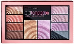 Парфюми, Парфюмерия, козметика Палитра сенки за очи - Maybelline Total Temptation Eyeshadow + Highlight Palette