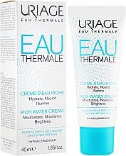 Парфюмерия и Козметика Озаряващ крем за лице - Uriage Eau Thermale Rich Water Cream