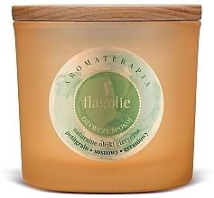 """Парфюмерия и Козметика Ароматна свещ в чаша """"Освежаващо спокойствие"""" - Flagolie Fragranced Candle Refreshing Peace"""