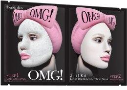 Парфюмерия и Козметика Почистваща маска за лице 2 в 1 - Double Dare OMG! 2in1 Kit Detox Bubbling Microfiber Mask