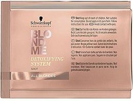 Парфюмерия и Козметика Почистващ детокс-концентрат за светла коса - Schwarzkopf Professional BlondMe Detoxifying System Shot