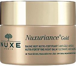 Парфюми, Парфюмерия, козметика Нощен подхранващ балсам за лице - Nuxe Nuxuriance Gold Nutri-Fortifying Night Balm