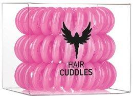 Парфюми, Парфюмерия, козметика Силиконови ластици за коса, розови, 3бр - HH Simonsen Hair Cuddles Pink