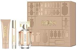 Парфюми, Парфюмерия, козметика Hugo Boss The Scent For Her - Комплект (парф. вода/50ml + парф. вода/7.4ml + лосион за тяло/50ml)