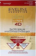 Парфюмерия и Козметика Златен антицелулитен серум за спомагане загубата на тегло и моделиране - Eveline Cosmetics Slim Extreme 4D Gold Serum Slimming And Shaping (саше)