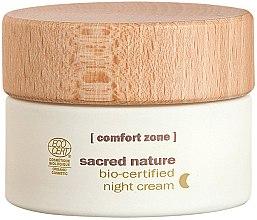 Парфюмерия и Козметика Нощен крем за лице - Comfort Zone Sacred Nature Bio-Certified Night Cream