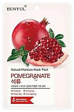 Парфюмерия и Козметика Памучна маска за лице с екстракт от нар - Eunyul Natural Moisture Pomegranate Mask