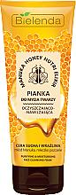 Парфюми, Парфюмерия, козметика Почистваща пяна за лице с мед от манука и пчелно млечице - Bielenda Manuka Honey Nutri Elixir Facial Foam