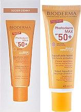 Парфюми, Парфюмерия, козметика Тониращ слънцезащитен флуид - Bioderma Photoderm Max Spf 50+ Ultra-Fluide Teinte
