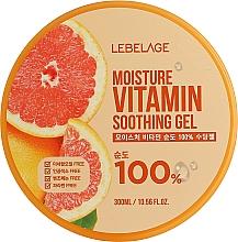 Парфюмерия и Козметика Хидратиращ гел за лице с грейпфрут - Lebelage Moisture Vitamin 100% Soothing Gel