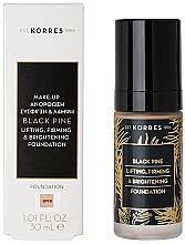 Парфюмерия и Козметика Фон дьо тен - Korres Black Pine Lifting, Firming & Brightening Foundation
