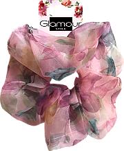 Парфюмерия и Козметика Ластик за коса, 417615, розов - Glamour