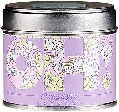 """Парфюмерия и Козметика Ароматна свещ """"Дъга"""" - Oh!Tomi Fruity Lights Rainbow Candle"""