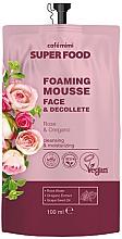 Парфюмерия и Козметика Почистващ крем-мус за лице и деколте с роза и риган - Cafe Mimi Super Food