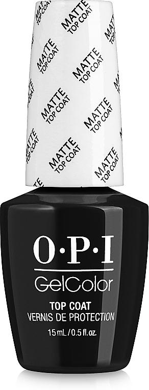 Матов топ лак - O.P.I. GelColor Matte Top Coat — снимка N1
