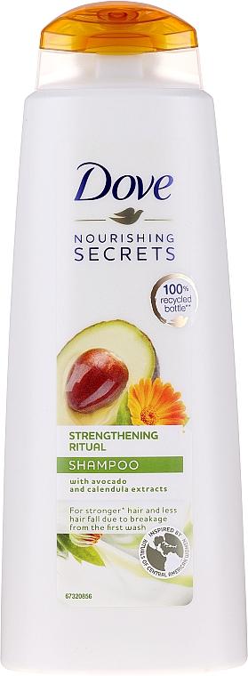 Шампоан за коса с екстракт от авокадо и невен - Dove Nourishing Secrets Invigorating Ritual Shampoo