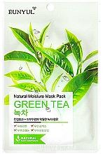 Парфюмерия и Козметика Хидратираща памучна маска за лице с екстракт от зелен чай - Eunyul Natural Moisture Mask Pack Green Tea