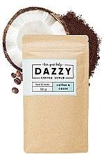 Парфюми, Парфюмерия, козметика Кофеинов скраб за лице и тяло с кокос - Dazzy Coffee Face & Body Scrub Coffee & Cocos