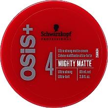Парфюмерия и Козметика Ултра силен матиращ крем за коса - Schwarzkopf Professional Osis+ Mighty Matte Cream