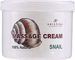 """Парфюмерия и Козметика Масажен крем за лице и тяло """"Охлюв"""" - Hristina Cosmetics Massage Snail Cream"""