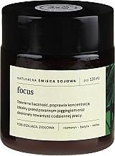 Парфюмерия и Козметика Натурална соева свещ с аромат на розмарин, босилек и матичина - Mood Ideas Focus Candle