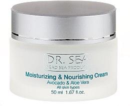 Парфюмерия и Козметика Овлажняващ и подхранващ крем с авокадо и алое вера - Dr. Sea Moisturizing and Nourishing Cream