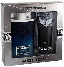Парфюми, Парфюмерия, козметика Police Frozen - Комплект (тоал. вода/100/ml+душ гел/100/ml)
