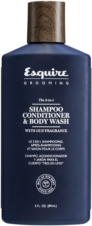 Шампоан-душ гел 3в1 за мъже - CHI Esquire Grooming The 3-in-1 Shampoo Conditioner & Body Wash — снимка N1