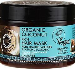 Парфюмерия и Козметика Хидратираща маска за коса - Planeta Organica Organic Coconut Rich Hair Mask