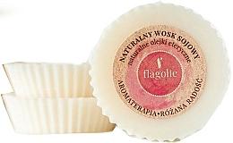 Парфюмерия и Козметика Натурален соев восък за ароматерапия с етерично масло от роза - Flagolie