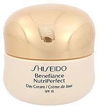 Парфюми, Парфюмерия, козметика Дневен крем за лице - Shiseido Benefiance NutriPerfect Day Cream SPF 15 (тестер)