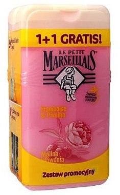 "Комплект душ гел ""Малина и божур"" - Le Petit Marseillais (sh/gel/250ml + sh/gel/250ml) — снимка N1"