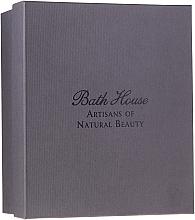 Парфюмерия и Козметика Bath House Spanish Fig and Nutmeg - Комплект за мъже (sh/gel/260ml +soap/150g + deo/50ml + towel/1pcs + brush/1pcs)