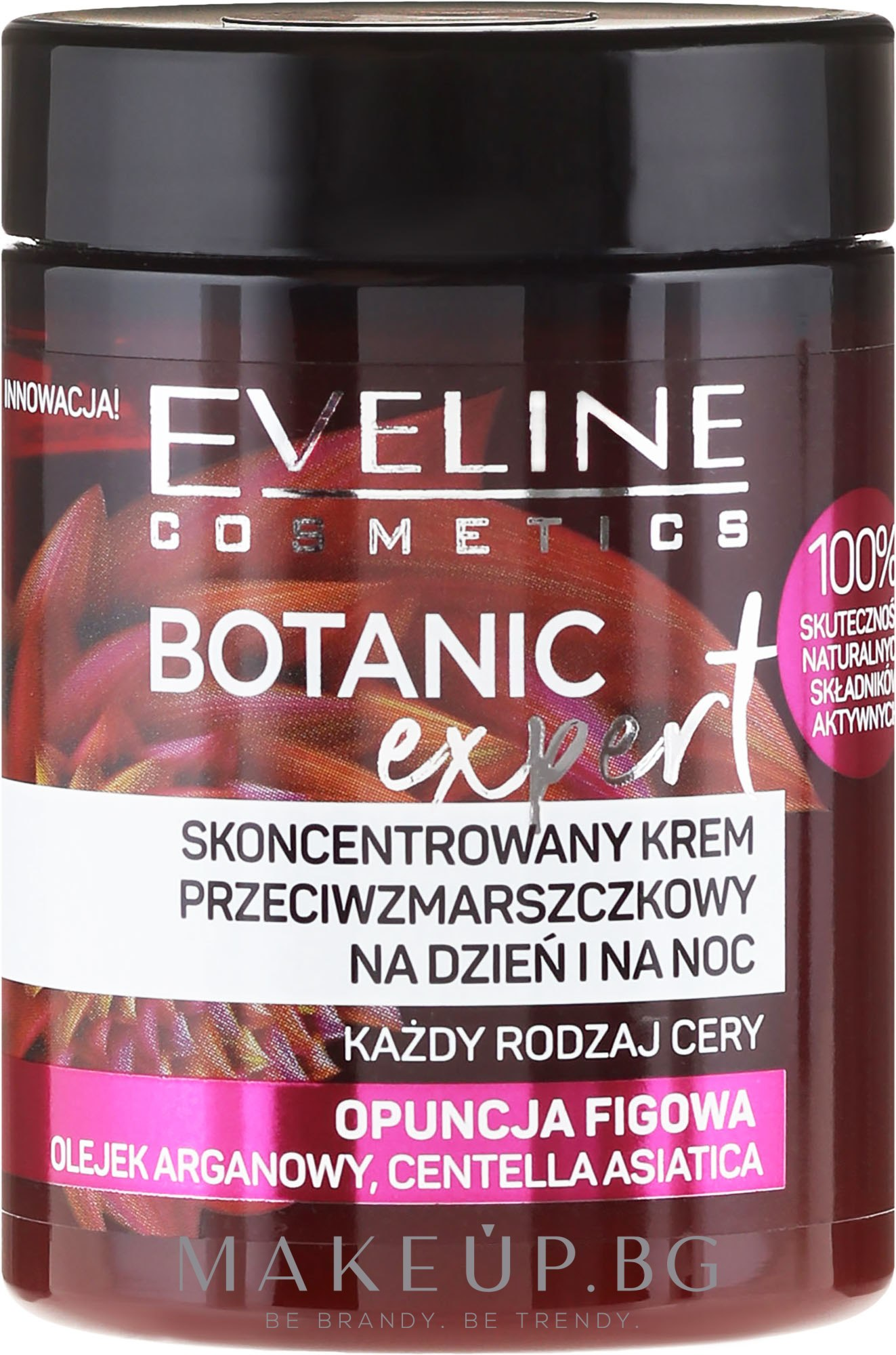 Концентриран крем против бръчки - Eveline Cosmetics Botanic Expert Concentrated Anti-wrinkle Day & Night Cream — снимка 100 ml