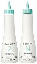 Парфюмерия и Козметика Комплект за перманентно къдрене на коса - No Inhibition Sensitive Perm 2 (лос./100ml + неутрализатор/100ml)