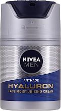 Парфюмерия и Козметика Антистареещ хидратиращ крем за лице с хиалуронова киселина - Nivea Men Anti-Age Hyaluron Face Moisturizing Cream SPF 15