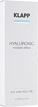 Парфюмерия и Козметика Хиалуронов околоочен гел - Klapp Hyaluronic Eye Roll-On