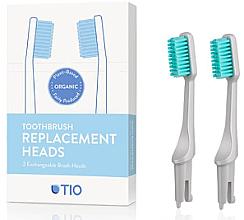 Парфюмерия и Козметика Сменяеми глави за четка за зъби, меки, сиви - TIO Toothbrush Soft