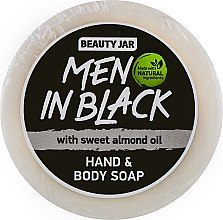 """Парфюмерия и Козметика Мъжки сапун за ръце и тяло с масло от сладък бадем """"Men In Black"""" - Beauty Jar Hand & Body Soap"""