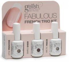 Парфюми, Парфюмерия, козметика Комплект лак за нокти - Gelish Fabulous French Trio Kit №1 (nail/3х15ml)