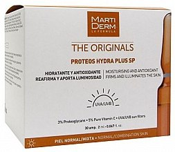 Парфюмерия и Козметика Слънцезащитни ампули за лице - MartiDerm The Originals Proteos Hydra Plus SP