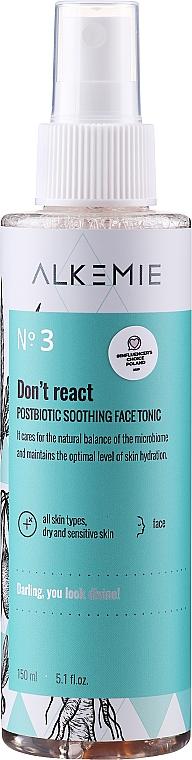 Успокояващ тоник за лице - Alkemie Microbiome Dont React Face Tonic