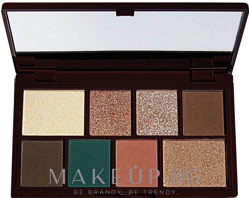 Палитра сенки за очи, 8 цвята - Makeup Revolution I Heart Revolution Mini Eyeshadow Palette — снимка Choc Mint
