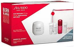 Парфюмерия и Козметика Комплект за лице - Shiseido Essential Energy (cr/50ml + foam/5ml + softener/7ml + conc/10ml + eye/cr/5ml + bag/1)