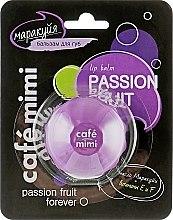 Парфюми, Парфюмерия, козметика Балсам за устни с аромат на маракуя - Cafe Mimi Lip Balm Passion Fruit