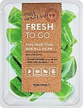 Парфюмерия и Козметика Освежаваща памучна маска за лице с алое вера - Tony Moly Fresh To Go Mask Sheet Aloe