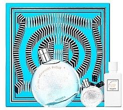 Парфюми, Парфюмерия, козметика Hermes Eau des Merveilles Bleue - Комплект (edt/100ml + b/lot/40ml + edt/7.5ml)
